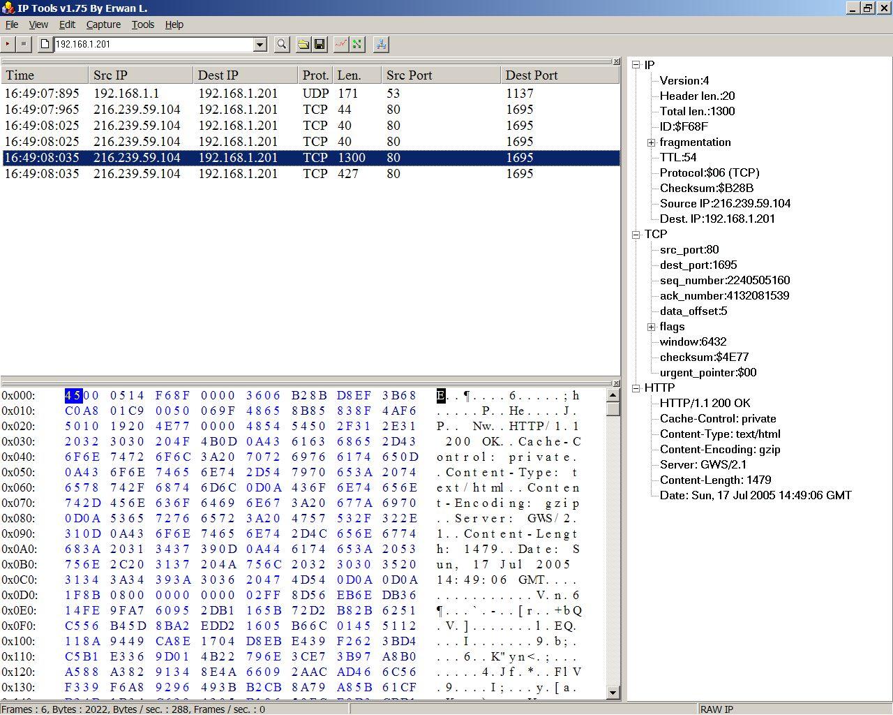 IP Sniffer full screenshot